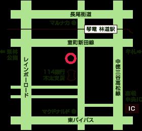 香川県高松市の相続遺言相談所 簡易地図